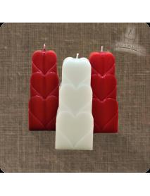 Lumanare decorativa - 3 inimi